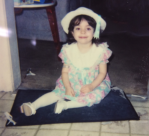 Young Christi on her Magic Carpet