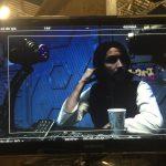 Erik Steele (Aladdin) taking a break on set.