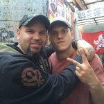 """Matt Busch with Director of Photography Alexander """"Ghost"""" Jacobson."""